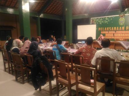 Bersama Mahasiswa UNY, Kalurahan Sendangsari Mengadakan Pelatihan Administrasi WKSBM Sendangsari