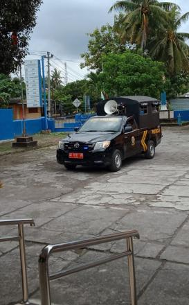 Satpol PP Kabupaten Bantul Sosialisasi Pencegahan Corona dengan Mobil Keliling