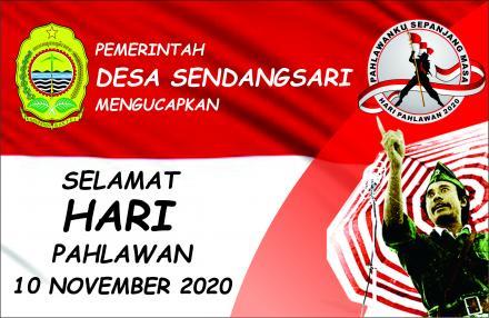 Pemerintah Desa Sendangsari Mengucapkan Selamat Hari Pahlawan 10 November 2020