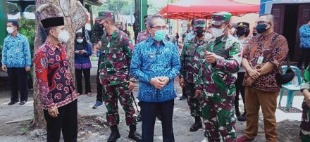 Bupati Bantul Tinjau Pelaksanaan Vaksinasi di Kalurahan Sendangsari